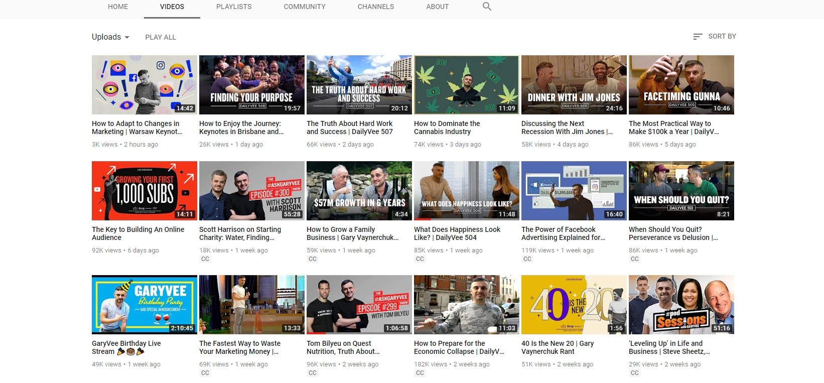 Gary V YouTube