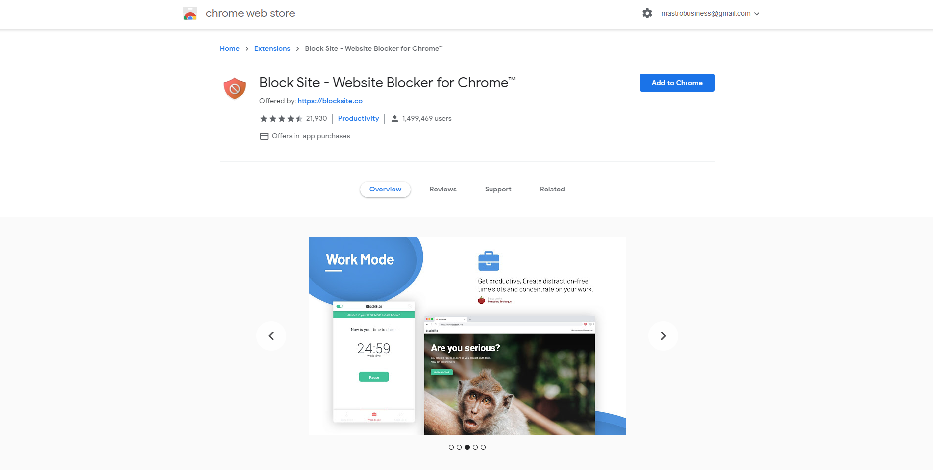 Block Site extension