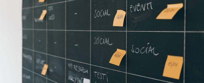 Chalkboard with marketing tasks