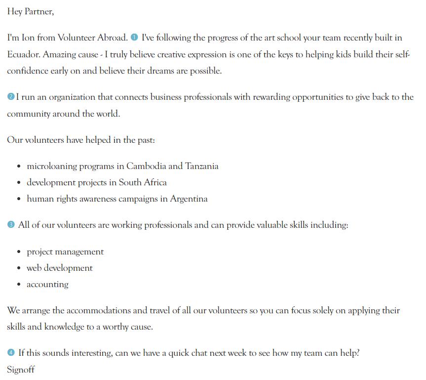 Partnership email proposal