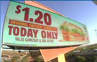 Burger King billboard