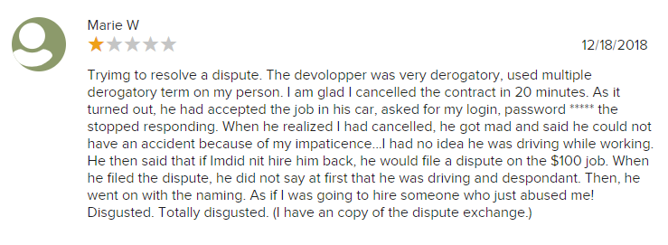 Second BBB Upwork review